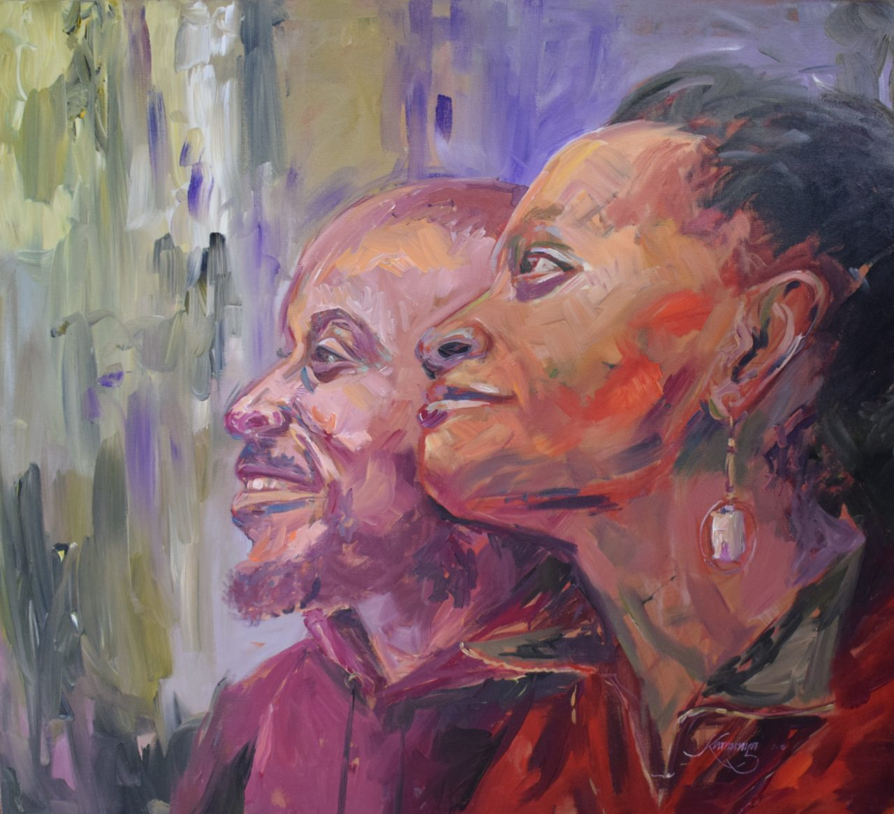 Revelation - African Acrylic on Canvas Painting For Sale