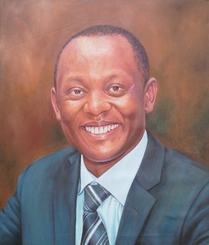 Portrait Painting: Oil on canvas Mananger, realistic portraiture. Style: Realism Theme: Portrait - Portrait by Kenyan Artist in Nairobi, Kenya