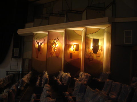 Sculptural lighting Installation: Relief sculpture and painting Style: Stylised Theme: Culture African Installation Art Piece by Kenyan Artist.