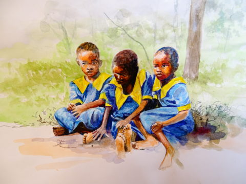 DSC04950 african water color painting