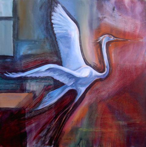 Take off Painting: Acrylic on canvas Echoed the bird on the background with scratches. Style: Realism Theme: Nature painting by Kenyan artist